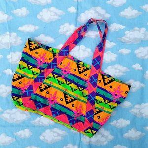Handbags - AZTEC 💚💛💙 Tote Neon Cloth SuMMer 😍